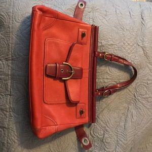 Coach purse, red leather, great condition